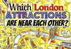 Want to explore London but not sure which sights to see on which day? Check our list of London attractions that are within walking distance of each other. London England Travel, London Travel, Tourist Map Of London, London Map, London Pubs, London Restaurants, London In January, London Spring, Phuket