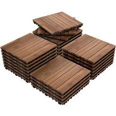 12 x 27 PCS Patio Pavers Interlocking Wood Tiles Wood Flooring Tiles Indoor & Outdoor For Patio Garden Deck Poolside, Beige Outdoor Wood Flooring, Wood Patio, Outdoor Flooring, Pallet Patio Decks, Outdoor Pavers, Wood Decks, Deck Flooring, Pavers Patio, Patio Stone