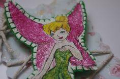 Tinkerbell Baby hair clip, painted Fairy wool felt hair clip on Etsy, £8.00
