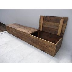 PURE wood design Storage Bench wood scaffolding with lid
