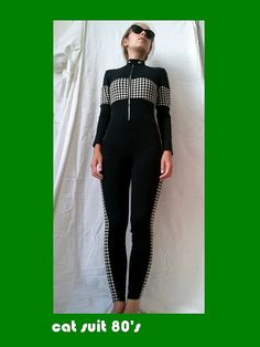 cat suit eighties by lesclodettes on Etsy, $50.00