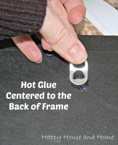 fix a broken picture frame, picture hanger, pop top picture hanger