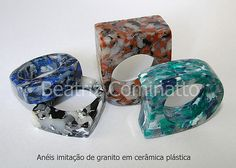 Beatriz Cominatto - faux granite Polymer Clay