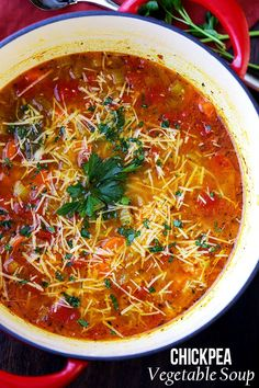 January 24, 2016 by Katerina Petrovska Leave a Comment Chickpea Vegetable Soup – A comforting, hearty and healthy vegetable soup packed with chickpeas and loads of veggies. So simple to make, too! ...