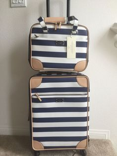 NWT KATE SPADE BON Voyage International Carry On +Topper TRAVEL SET ($1100+TAX) in Travel, Luggage | eBay