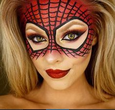 how to face paint a sexy spiderwoman step by step - Google Search