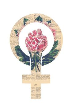 Respect, equality, women's liberation. Feminism Power Fist / Raised Fist Art Print:
