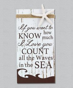 Another great find on #zulily! 'I Love You' Wall Sign #zulilyfinds
