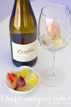 DIY floral wine ice - this is a gorgeous way to chill your Chardonnay