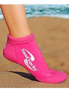Vincere Sprites Sand Socks Pink Size Medium ** Click image to review more details.