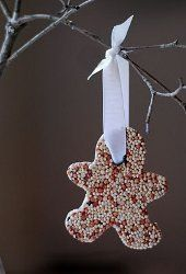 Your little ones will have a blast making these Easy Birdseed Ornaments and hanging them for display on your tree. (I would use a smaller ribbon as this one is toooo big) Maybe a Stocking would be a better shape. A Christmas stocking for the birds. Why not?
