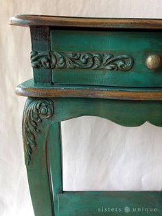 The perfect shade of antique green.