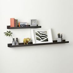 """metal gunmetal wall shelves Large 48""""w - $59.95 (less 15% is $50.95) Small 24""""w - $29.95 (less 15% is $25.45) - For above your two smaller dressers. It will connect with the dark headboard for symmetry in the room."""