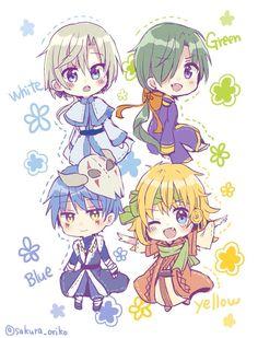 The Four Dragons. Cute!