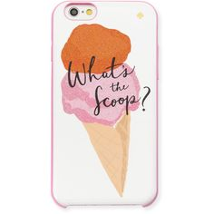 kate spade new york what's the scoop i Phone 6/6s case ($40) ❤ liked on Polyvore featuring accessories, tech accessories, phone cases, phone, multi colors and kate spade