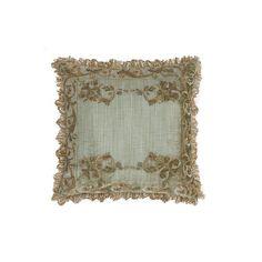 Viola Cushion in Como Silk Velvet - Fern