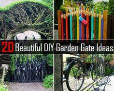 20 Beautiful DIY Garden Gate Ideas - http://www.diyhomestips.com/52/garden/20-beautiful-diy-garden-gate-ideas