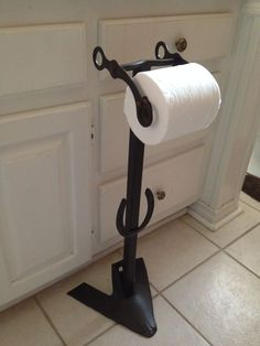 New Western Horse Shoe Plow & Bridle Bit Stand Up Toilet Paper Holder Country