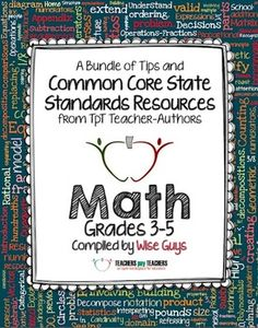 Common Core Math: Free Back-to-School eBook for Grades 3-5 - loaded with tips and freebies for teachers!