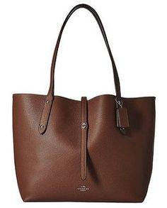 b571934a70b0 Coach 36047 Saddle Black Tote in Brown Designer Handbags On Sale, Luxury  Bags, Black