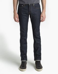 """BaldwinReed in Raw Selvage DenimJeansBWRaw denim is great because you can dress it up or down, and it wears in beautifully. The """"Reed"""" is a staple for K.C.-based Baldwin.$220 http://baldwindenim.com/store/wp-content/uploads/MEN_WEB_TheReed_Dry-BACK-460x590.jpg"""
