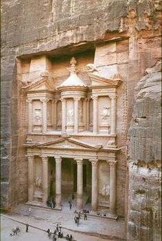 Petra, Jordan. I've always been impressed by this place, and wouldn't mind getting to see it someday.