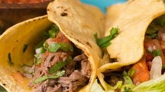 Because we wish everyday was taco day, we're obsessing over theseSlow Cooker Shredded Steak Tacos. So. S...