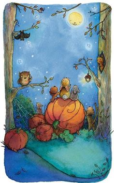 mouse, pumpkin, and animals image