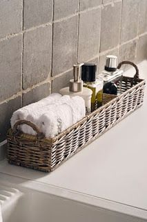 Simple bathroom storage
