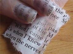Newspaper Nail Art – Easy Design for Beginners