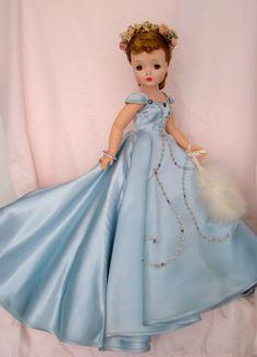 1955 Ice Blue Satin