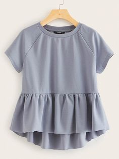 Tee Dress, Peplum Dress, Peplum Tops, Peplum Top Outfits, Cool Outfits, Casual Outfits, Western Outfits, Latest Fashion For Women, Women's Fashion Dresses