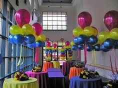 This may be what it looks like if we combine balloons at tables....not sure about this...lol