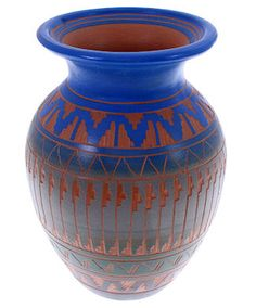 Authentic Navajo Vase by Native American Artist Bernice Watchman Lee KS73961 http://www.silvertribe.com
