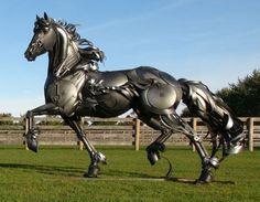 Welded Sculpture: Friesian; by John Lopez (American) @ www.johnlopezstudio.com