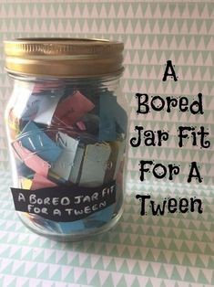 A bored jar fit for a tween