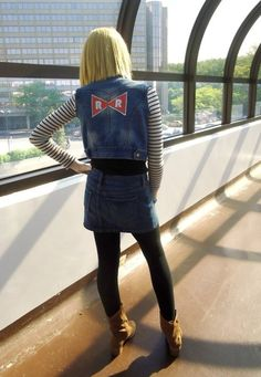 Dragonball Z > Life. Halloween 2015, Halloween Cosplay, Mardi Gras, Android 18 Cosplay, Trunks Dbz, Dragon Ball Z Shirt, Angel Beats, Cosplay Girls, Sexy
