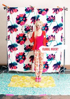 WHAT IS THIS FLORAL BACKDROP FABRIC? I need it.