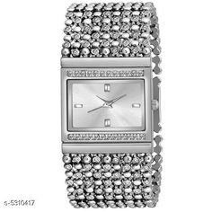 Checkout this latest Analog Watches Product Name: *New Trendy Women's Watch* Strap Material: Metal Date Display: No Dial Color: Silver Dial Shape: Square Dual Time: No Gps: No Light: No Multipack: 1 Sizes:  Free Size Country of Origin: India Easy Returns Available In Case Of Any Issue   Catalog Rating: ★4.1 (202)  Catalog Name: New Trendy Women's Watch CatalogID_788686 C72-SC1087 Code: 372-5310417-015