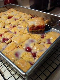 """Cherry Kuchen"" or cherry cake.....german food day..."
