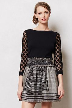 Dotlace Pullover #anthropologie In love with this sweater.  The dots, the button up back, magnificent!