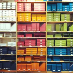 Container Rainbow @The Container Store