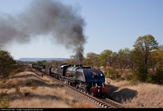 Net Photo: 395 National Railways of Zimbabwe Garratt at Thomson Junction, Zimbabwe by Georg Trüb National Railways, Steam Engine, Steam Locomotive, Zimbabwe, East Africa, Landscape Photographers, Nature Photos, Diesel, Train