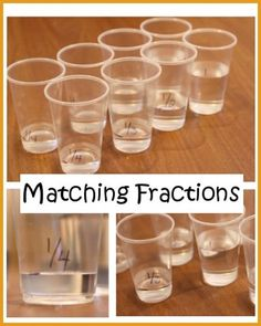 Fraction Matching - hands-on math fun! Do for equivalent fractions