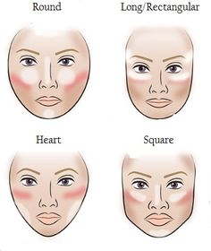 Where to highlight, contour, blush according to face shape.I never know where to highlight. All Things Beauty, Beauty Make Up, Diy Beauty, Beauty Hacks, Contouring Makeup, Contouring And Highlighting, Skin Makeup, Contouring Guide, Contour Face