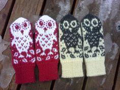 Retuperällään: Pöllöt rivissä Gloves, Winter, Winter Time, Winter Fashion