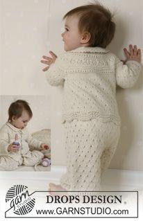 """Giacchino, pantaloni, cuffia, calze, coperta, palla e sonaglino DROPS in """"Alpaca"""" ~ DROPS Design"""