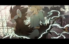 Clemont and Luxray