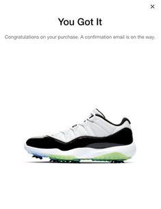 Nike Air Jordan 11 Low Golf Cleats XI Concord Retro AQ0963 101 Size  10.5   shoes  kicks  sneakerheads d0a17d937