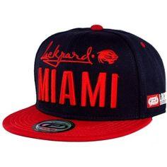 Boné Lackpard Miami Snapback Marinho Vermelho a2ff7660815